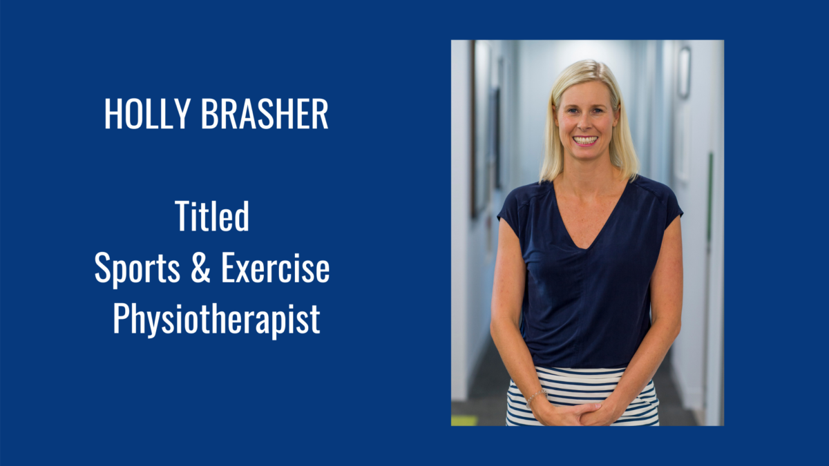 Holly Brasher Titled Sports & Exercise Physiotherapist